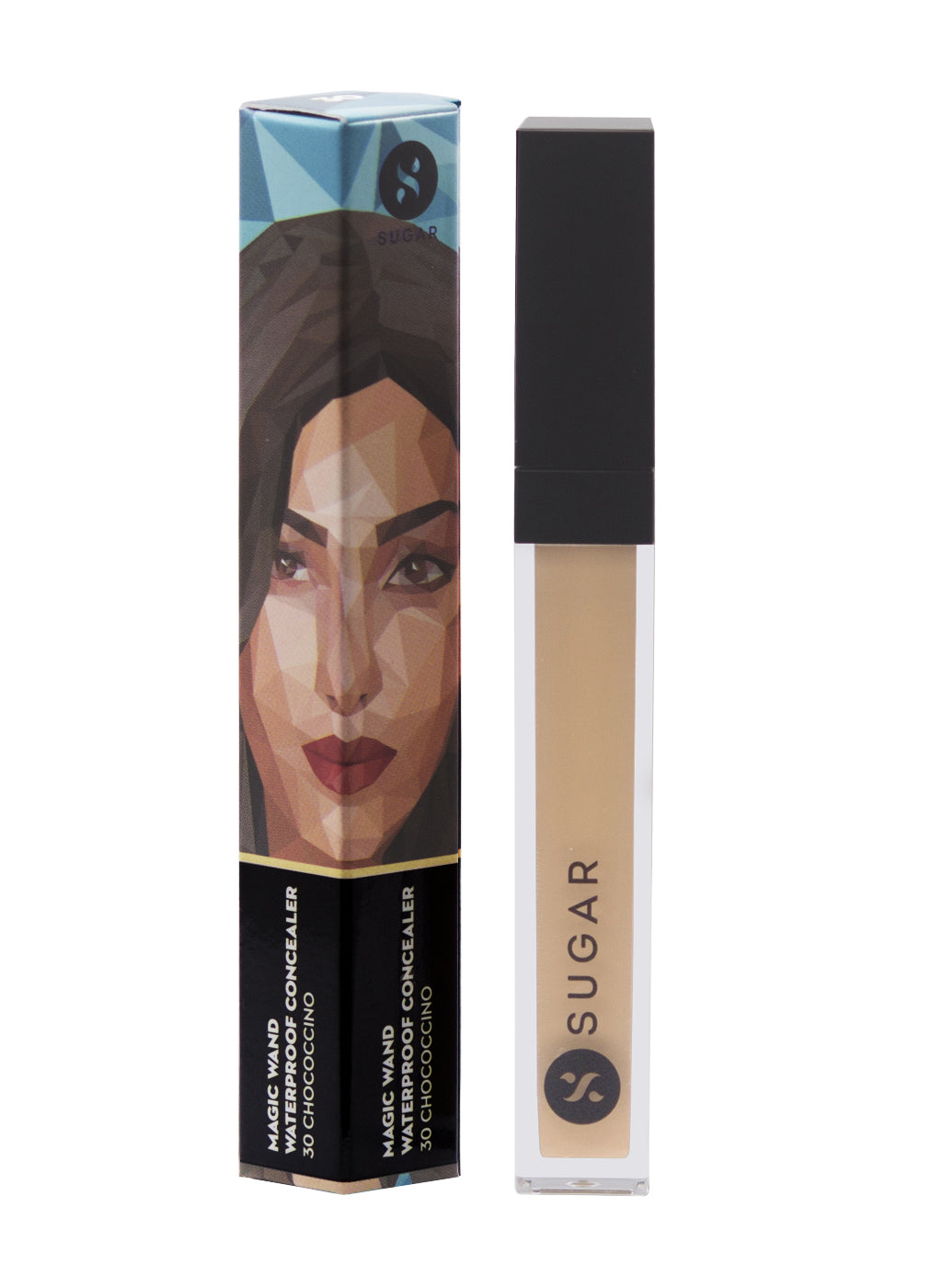 SUGAR Magic Wand Waterproof Concealer - 30 Chococcino (Medium, Warm Undertone)
