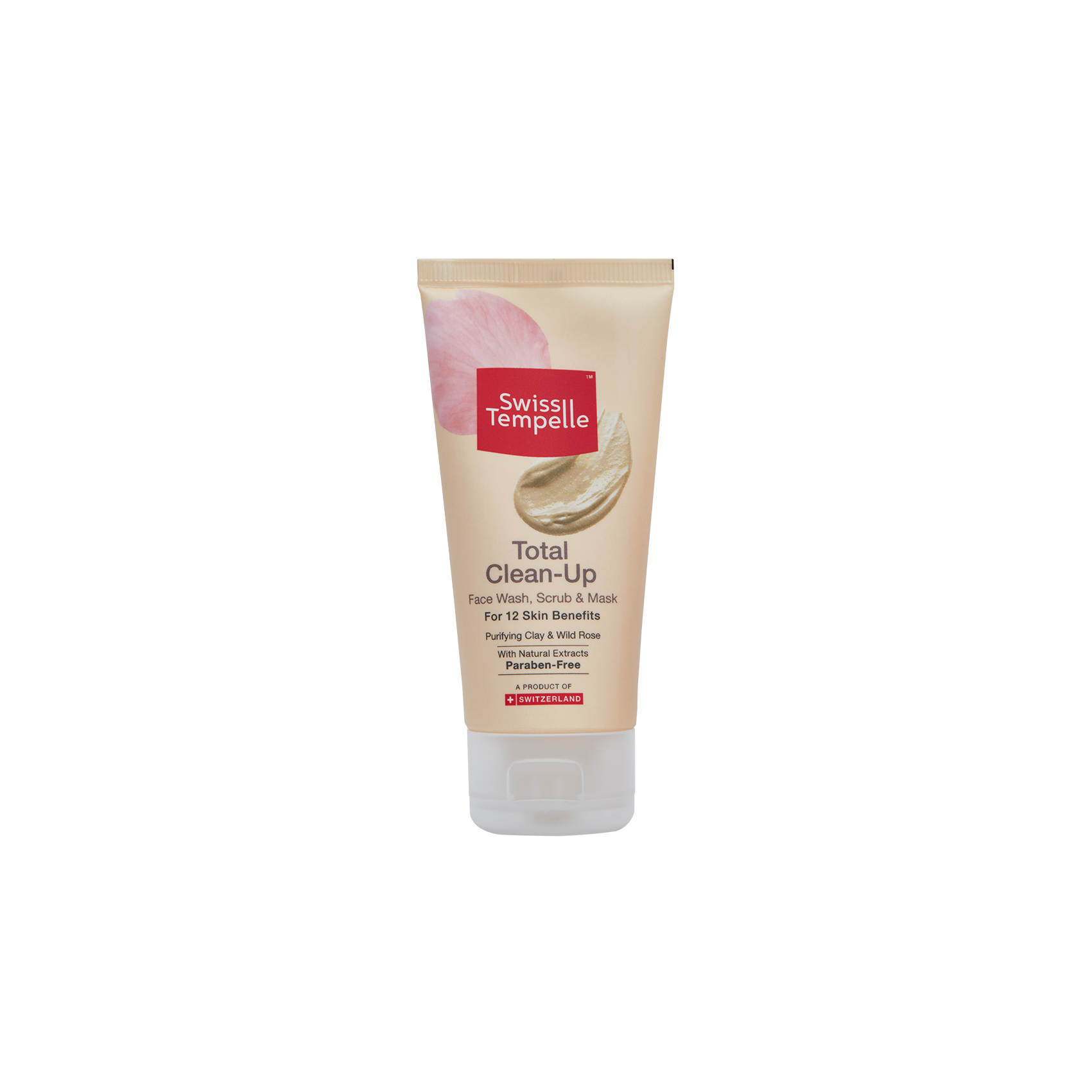 Swiss Tempelle Total Clean-Up Face Wash, Scrub & Mask