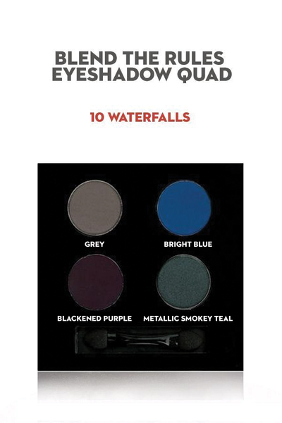 SUGAR Blend The Rules Eyeshadow Quad - 10 Waterfalls