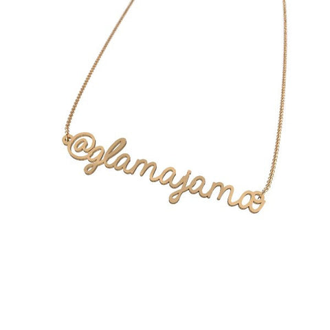 Personalized Instagram Handle Necklace