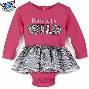 Born to Be Wild Zebra Tutu Bodysuit