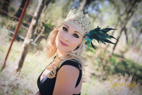 Gatsby Golden Girl Lace Crown