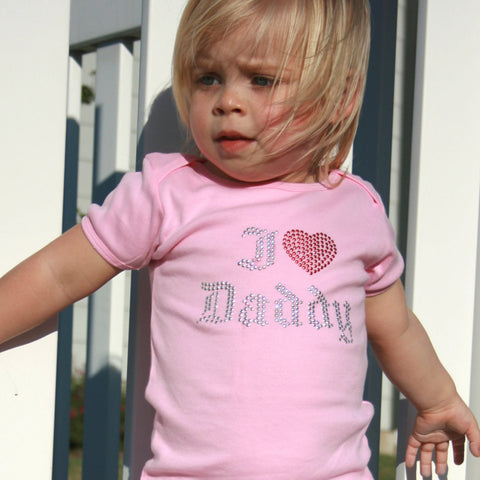 I Love Daddy T-Shirt for Babies