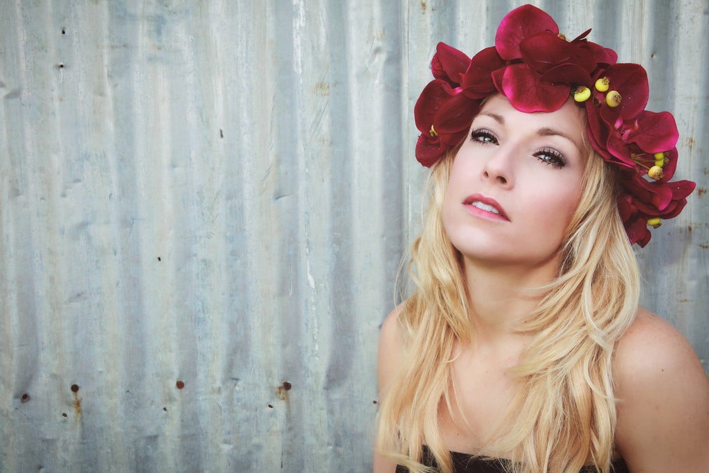 Couture Tropical Orchid Floral Crown