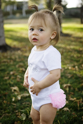 """Couture Cutie"" Ruffled Infant Bodysuit"
