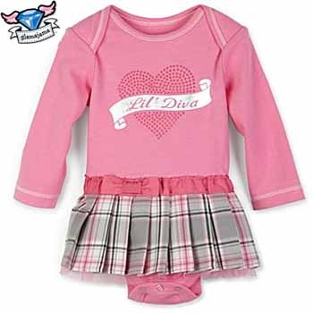 Lil Diva Schoolgirl Plaid Infant Bodysuit
