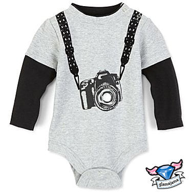 """Lil Hot Shot"" Camera Infant Bodysuit"