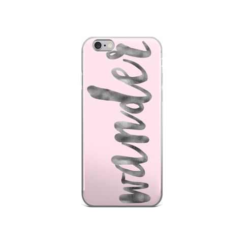 Wander Pink and Silver Foil iPhone 6/6s Case