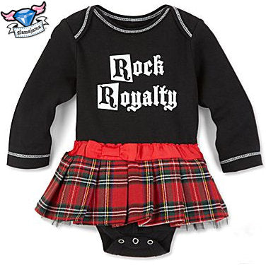Rock Royalty Schoolgirl Plaid Infant Bodysuit