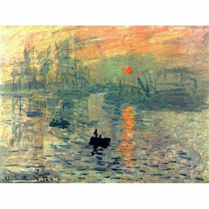 Veggbilde - Claude Monet Sunset