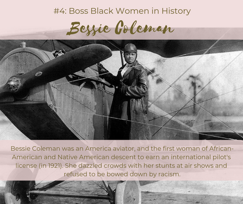 Bessie Coleman Boss Black Women in History Enya's Attic