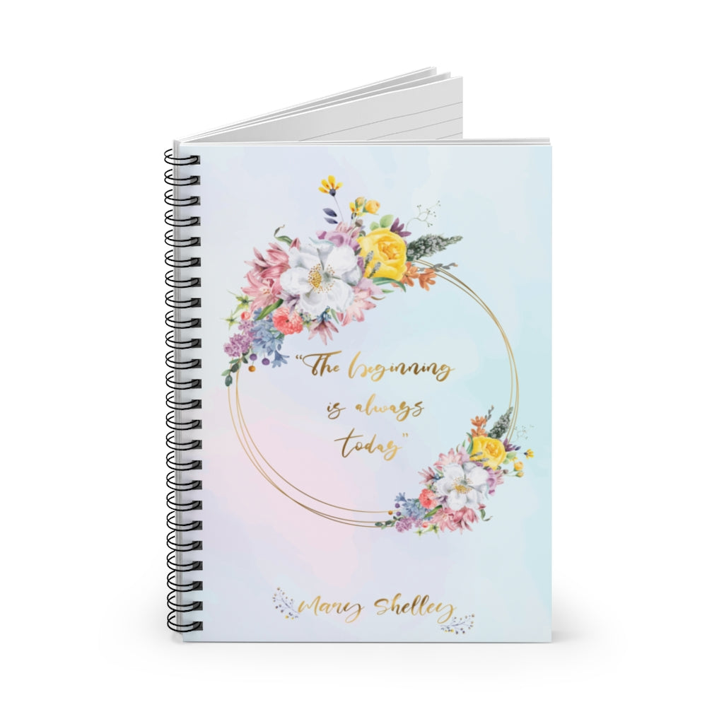 A5 Notebook with Mary Shelley Quote