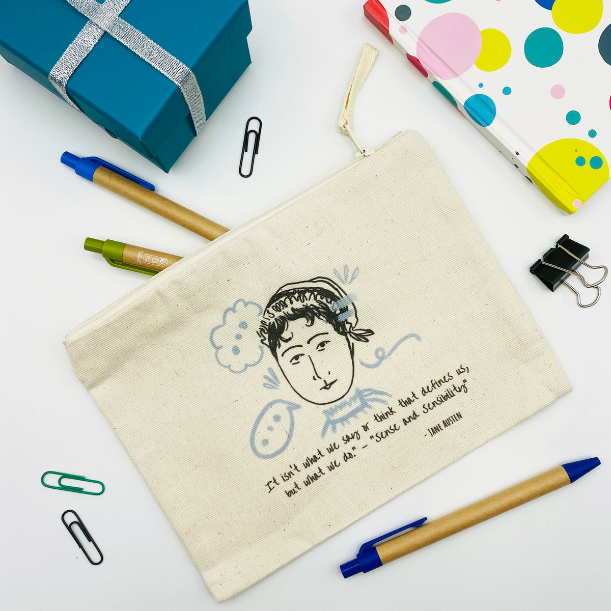 """Jane"" Pouch /Cosmetics Bag"