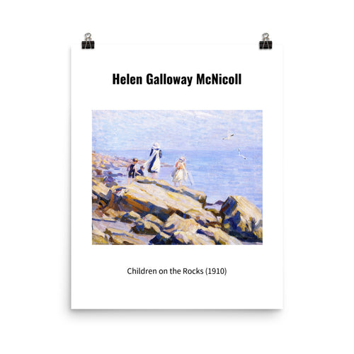 Helen Galloway McNicoll Wall Art 'Children on the Rocks'