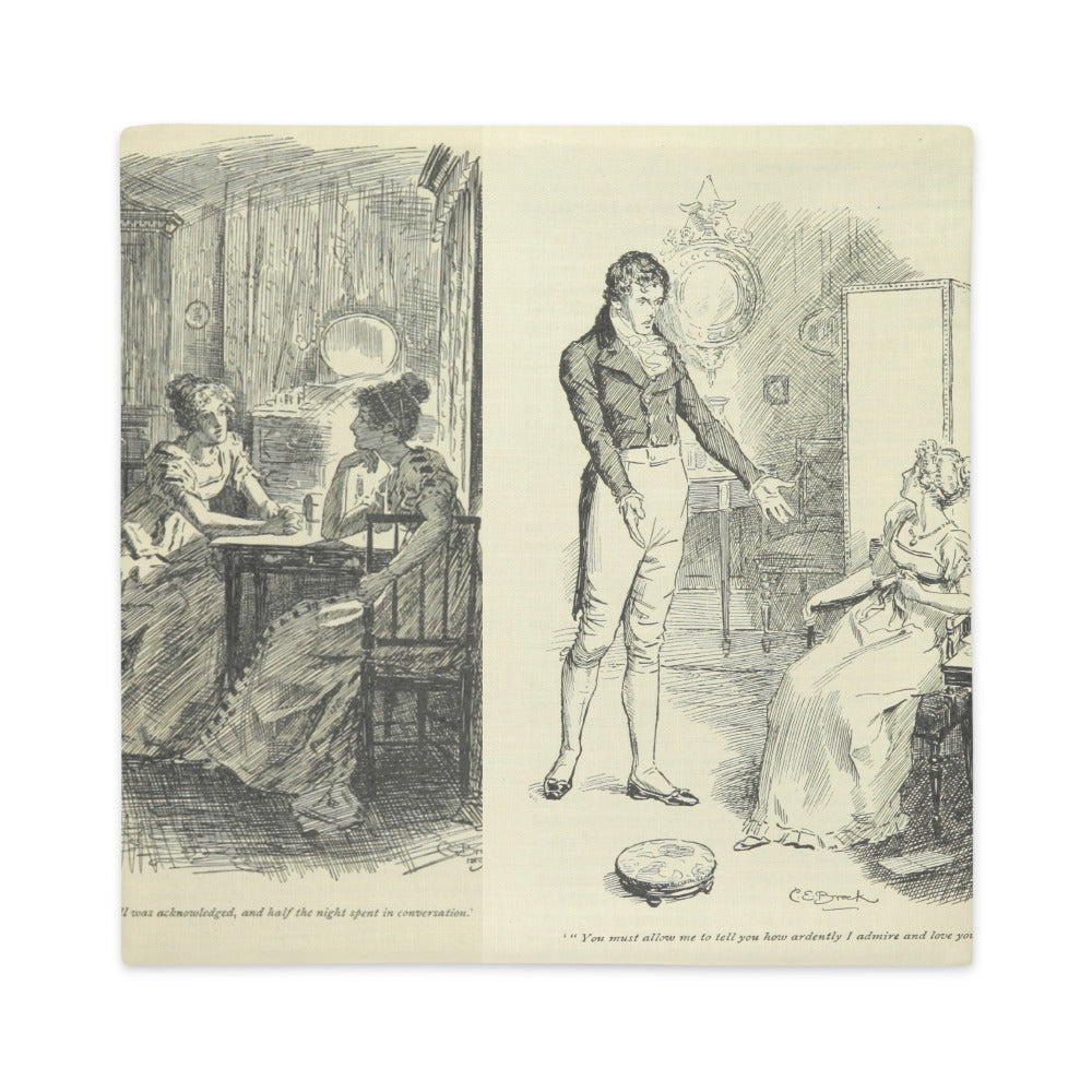 Pride and Prejudice Cushion Cover 2