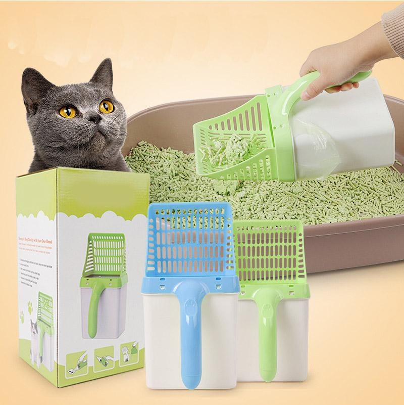 Integrated Cat Litter Shovel