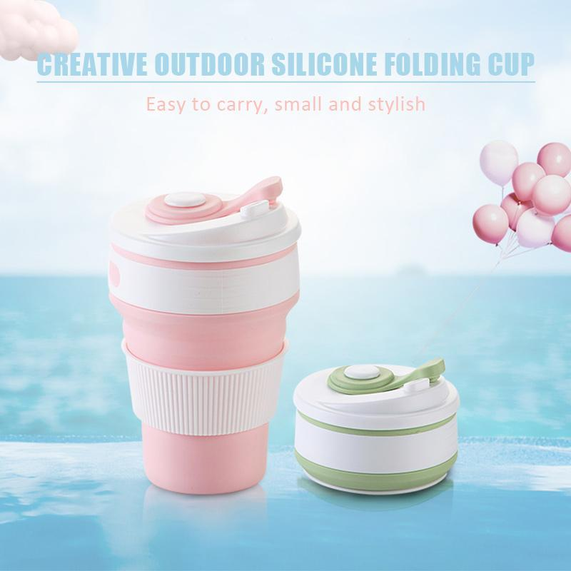 Creative outdoor silicone folding cup