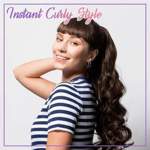 Quick & Easy Claw on Curly Ponytail