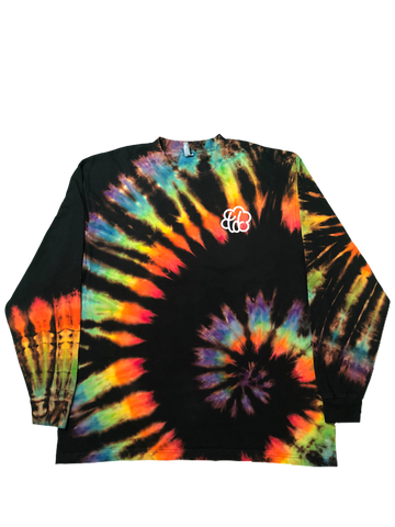 ROYGBIV+ Reverse Tie Dye Low Spiral Long Sleeve - The Tie Dye Company