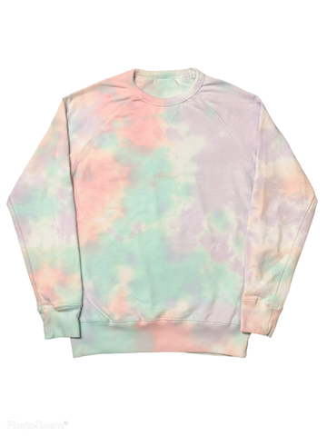Laffy Taffy Tie Dye French Terry Pullover Crewneck - The Tie Dye Company