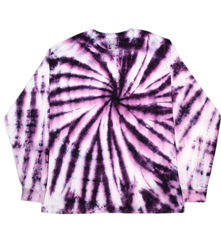 Purple Swirl Tie Dye Long Sleeve T-Shirt - The Tie Dye Company