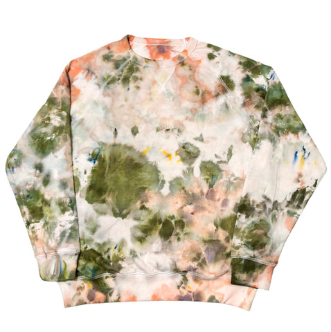 Arizona Rain Tie Dye French Terry Pullover Crewneck - The Tie Dye Company