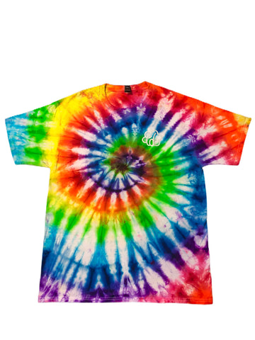 ROYGBIV+ Spiral Tie Dye Short Sleeve T-Shirt - The Tie Dye Company