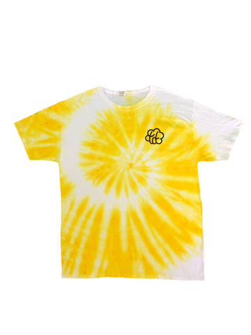 """Sunshine"" Tie Dye Spiral Short Sleeve T-Shirt - The Tie Dye Company"