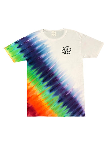 ROYGBIV Slanted Tie Dye Short Sleeve T-Shirt - The Tie Dye Company