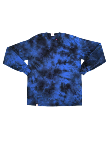 Royal Blue Tie Dye Long Sleeve - The Tie Dye Company