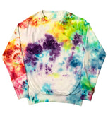 ROYGBIV+ Tie Dye French Terry Crewneck Sweater - The Tie Dye Company