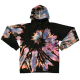 Reverse Galaxy Spiral Tie Dye Hooded Sweatshirt - The Tie Dye Company