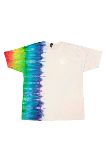 ROYGBIV Vertical Tie Dye Short Sleeve T-Shirt - The Tie Dye Company