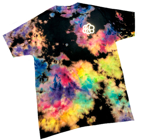 ROYGBIV+ Reverse Cloud Tie Dye Short Sleeve T-Shirt - The Tie Dye Company
