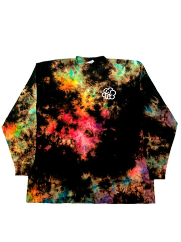 ROYGBIV+ Reverse Tie Dye Cloud Long Sleeve - The Tie Dye Company