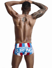 Low Rise Boxer Brief Stripe Swimwear 90807
