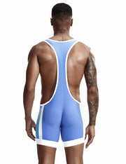 Fitness Wrestling Leotard Singlet Bodysuit 9701