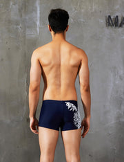 Boxer Brief Leaf Pattern Swimwear 90802