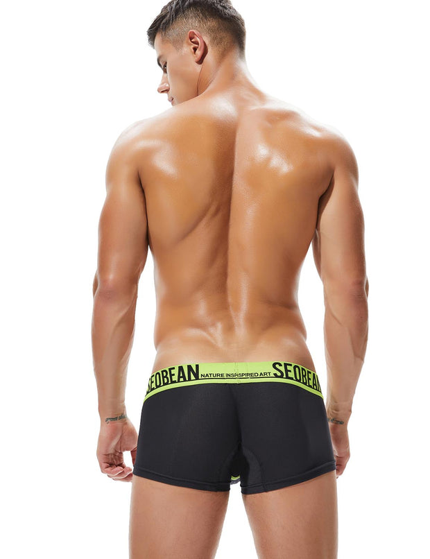 Low Rise Sexy Nylon Mesh Boxer Briefs 90204
