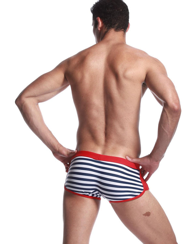 Low Rise Boxer Brief Stripe Swimwear 30801