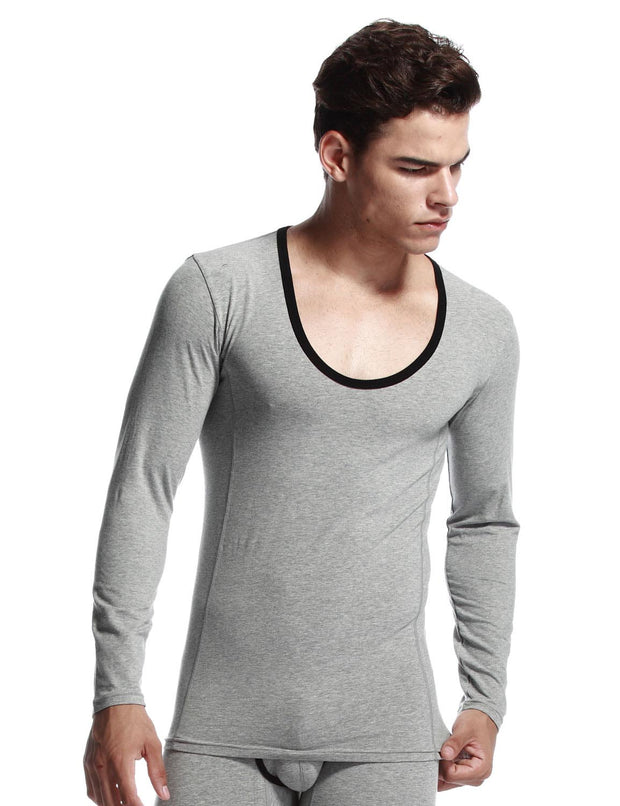 Thermal Crew Neck Cotton Baselayer Long Sleeve Tops 31201