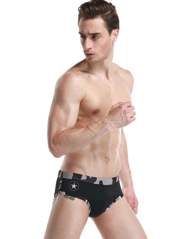 Low Rise Brief Camouflage Swimwear 50904