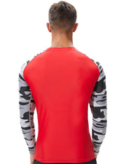 Men's Camouflage Long Sleeve Rash Guard Surfing Shirt 8802