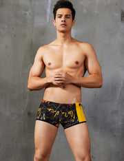 Low Rise Boxer Brief Graffiti Swimwear 90801