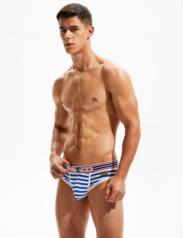 Navy Stripes Brief 00101