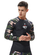 Camouflage Rash Guard Surfing Shirt 8802