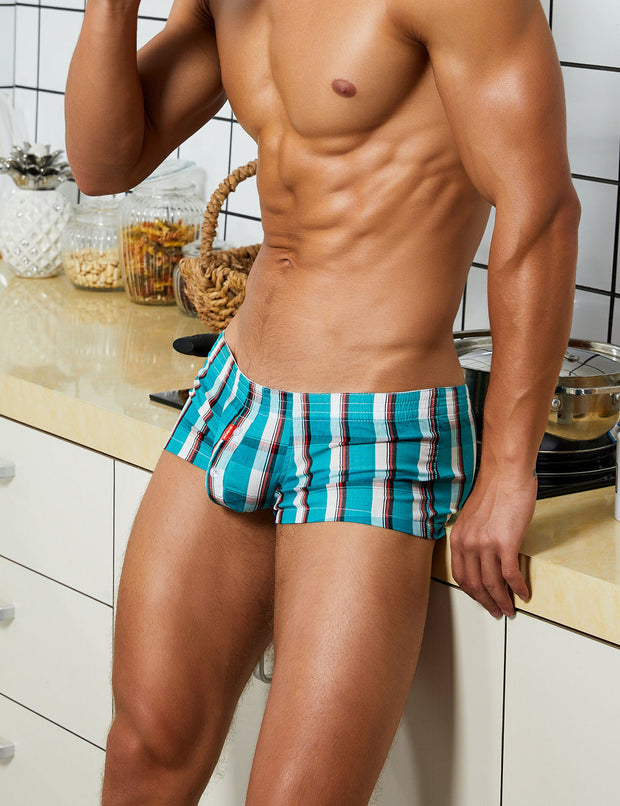 Checkered Fit Trunks 90510