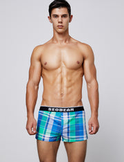 Low Rise Plaid Trunk Shorts 90503