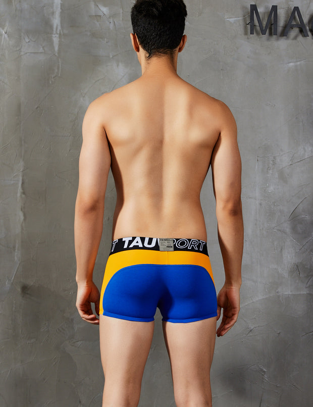 Low Rise Sports Boxer Brief Trunks Cotton & Nylon Splice 9209