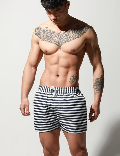 Sport Quick-Dry Stripe Beach Surf Shorts S6018